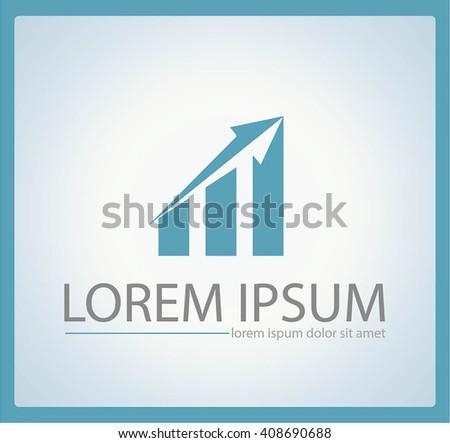 Vector arrow progress logo, growth logo, financial and business success logo, icon, arrow up logo ,web logo - stock vector