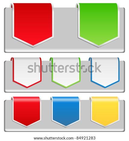 Vector Arrow Stickers - stock vector