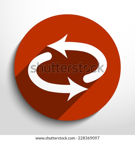 Vector arrow web icon. Eps 10.
