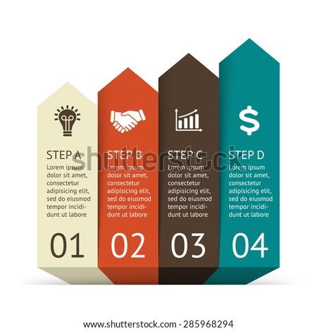 Vector 3d Arrows Workflow Infographic Template Stock Vector ...