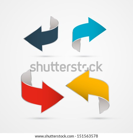 Vector Arrows Isolated on Grey background