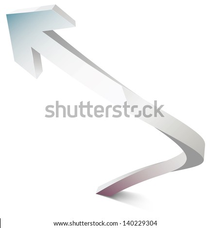 vector arrows spiral illustration with shadow and overflow tsvetoa eps 10 / vector arrows / ml1413 - stock vector