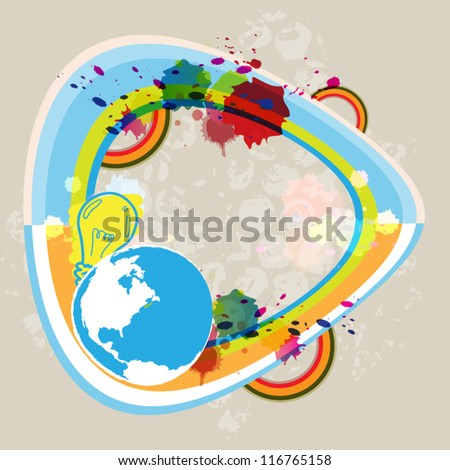 vector art abstract globe communication concept design
