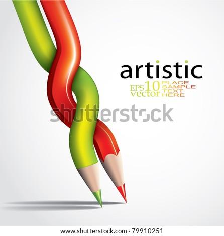 Vector art concept - stock vector