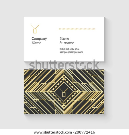 Vector art deco business card template stock vector 288972416 vector art deco business card template letter y monogram high quality design element colourmoves