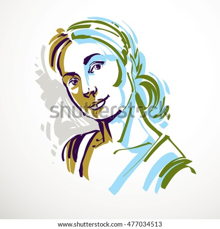 Nice girl stock images royalty free images vectors for Minimal art face