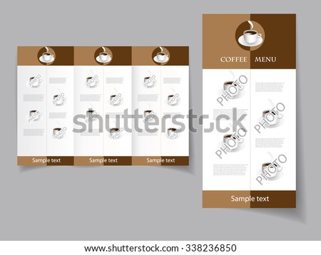 Vector art graphic illustration of coffee menu - stock vector