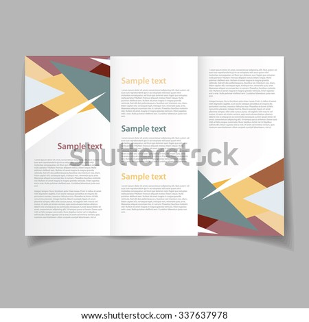 Vector art graphic illustration of colour template editable brochure - stock vector