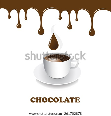 Vector art graphic illustration of hot chocolate - stock vector