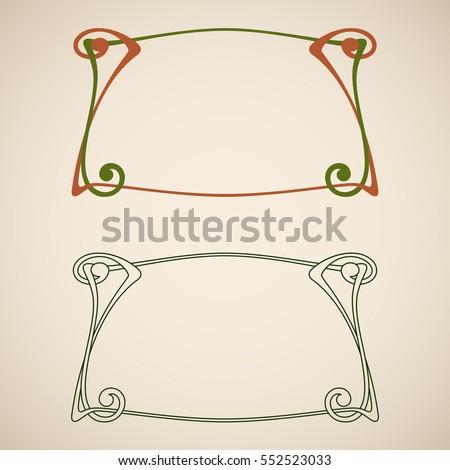 Vector Art Nouveau Frames Print Design Stock Vector HD (Royalty Free ...