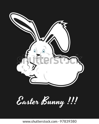 Vector Art of Easter Bunny