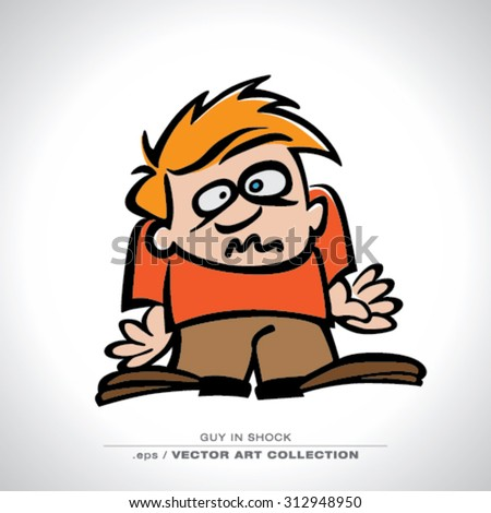 Vector art of funny Character with stress - stock vector