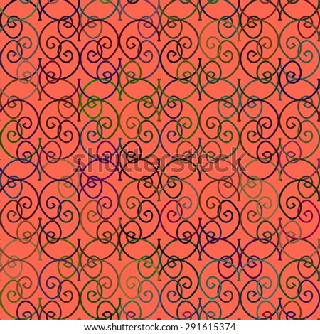 Vector artistic background with varicolored curls. Decoration design element. Square background. Hand drawn design element. - stock vector