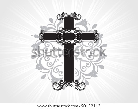 vector artistic design isolated cross illustration - stock vector