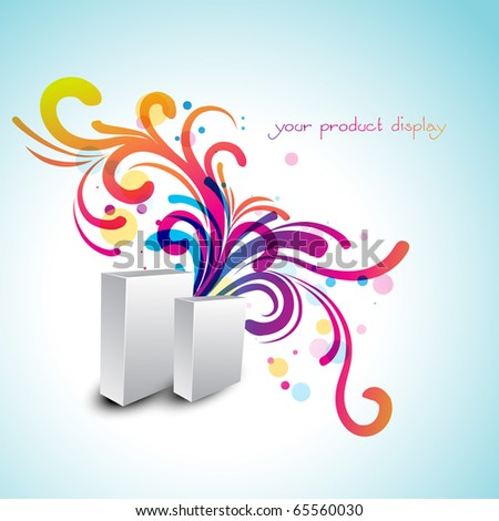 vector artistic product display design