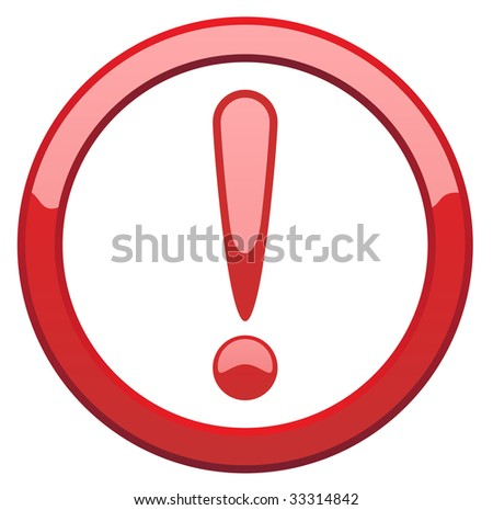 Vector attention sign - stock vector