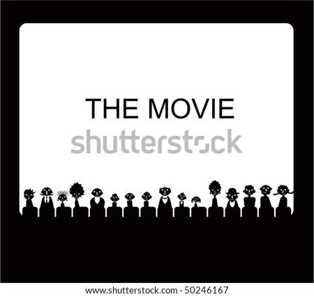 Vector audience silhouettes - stock vector
