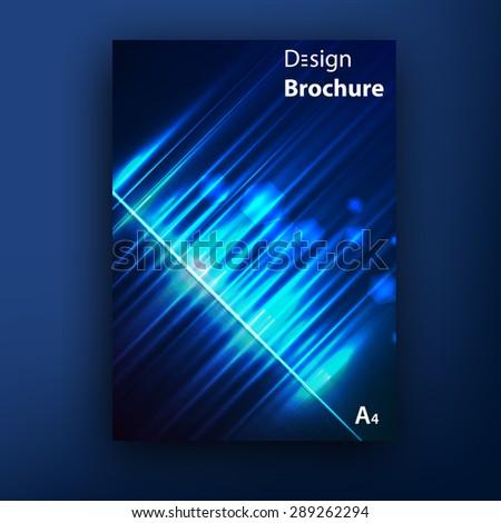 Vector aurora borealis brochure / booklet cover design templates collection - stock vector