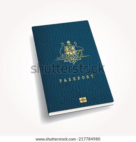 vector Australian passport cover - stock vector
