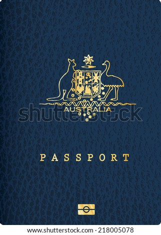 vector Australian passport cover - stock vector