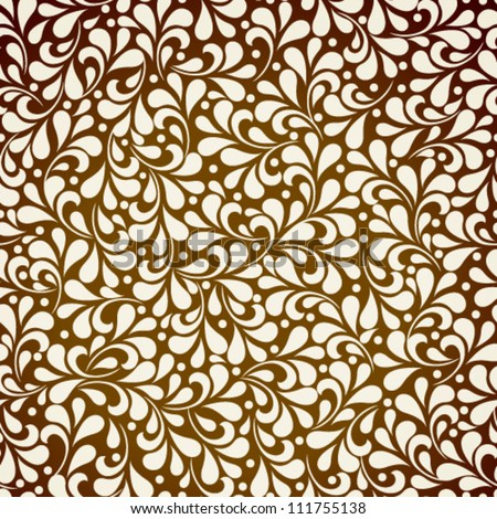 Vector autumn seamless wallpaper pattern. - stock vector