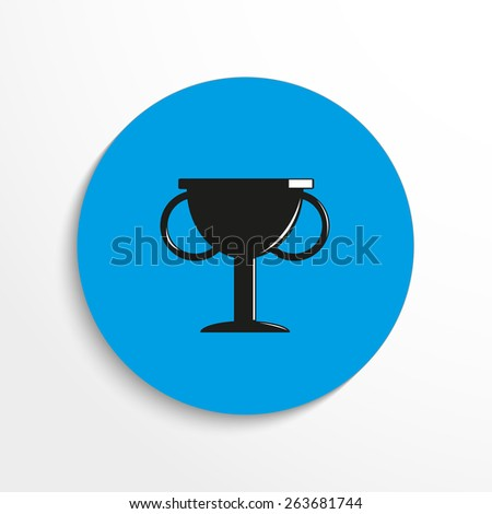 Vector award flat icon illustration - stock vector