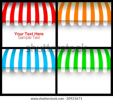 vector awning for text - stock vector