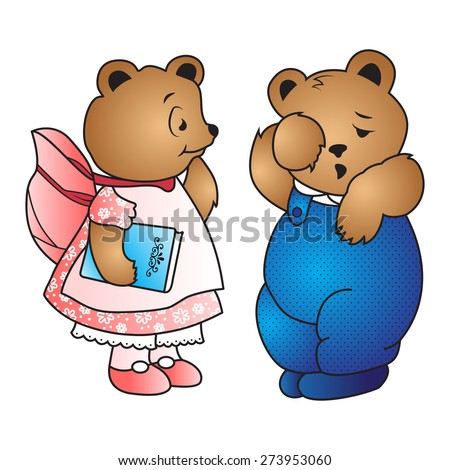 Vector babes bears. - stock vector