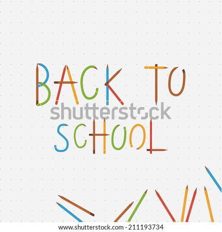 Vector back to school illustration. Banner with place for your text.