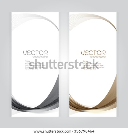 vector background Abstract header gray brown wave whit vector design on gray background - stock vector