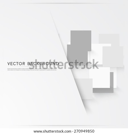 Vector background abstract squares. design and geometrical - stock vector