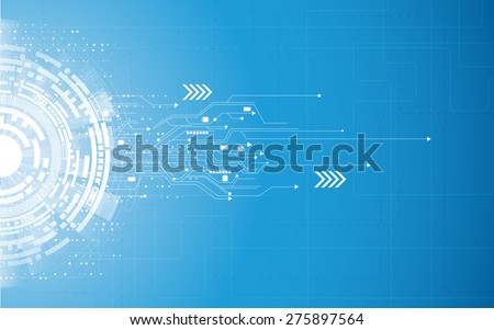 vector background abstract technology communication concept - stock vector