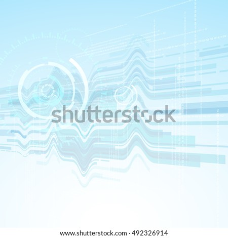 vector background abstract technology communication concept,futuristic background, techno circle.