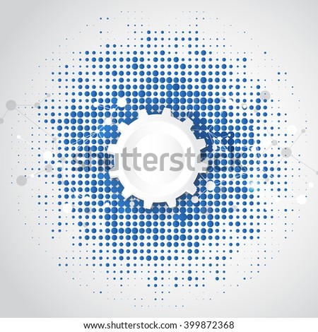 vector background abstract technology concept illustration - stock vector