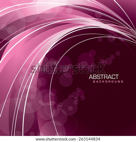Vector Background. Abstract Wavy Illustration.  - stock vector