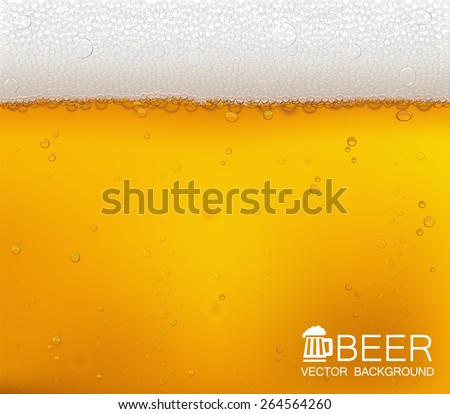 Vector background. Beer in the high magnification(close-up). EPS10. - stock vector