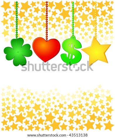 Vector background bodes well for next year - stock vector