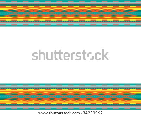 Vector background border with southwestern design