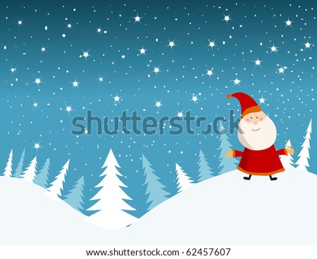 vector background card for christmas. - stock vector