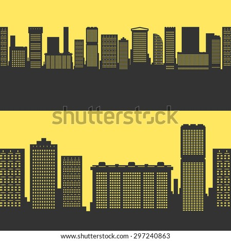 Vector Background City Buildings