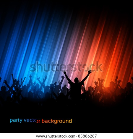 Vector Background - Dancing Young People - stock vector