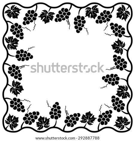 vector background decoration of grape vine
