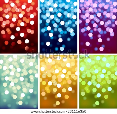 Vector background defocused festive lights, no size limit. - stock vector