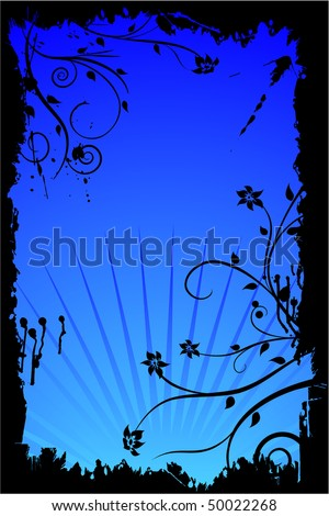 vector background design with flower ornaments