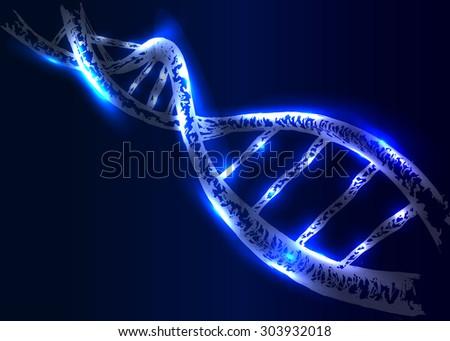 vector background DNA structure - stock vector