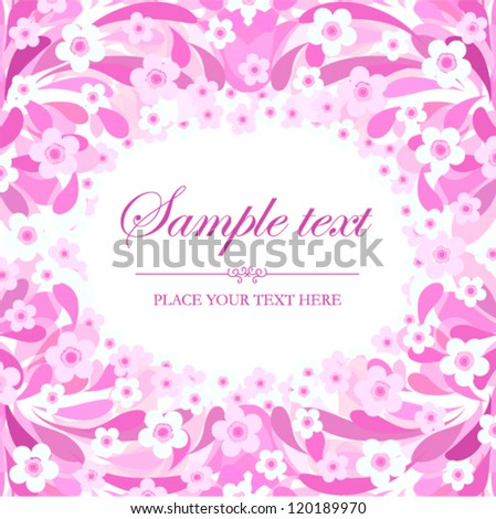 Vector background - floral pattern with place for text (floral frame)