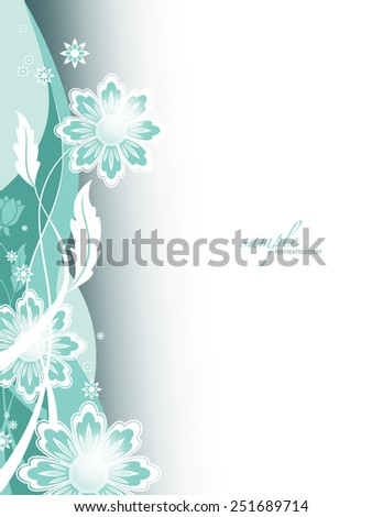 Vector Background. Floral Theme. - stock vector