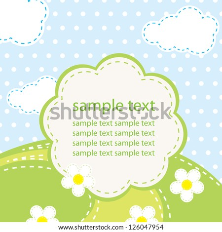 vector background for baby - stock vector