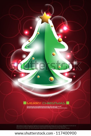 vector background for christmas - stock vector