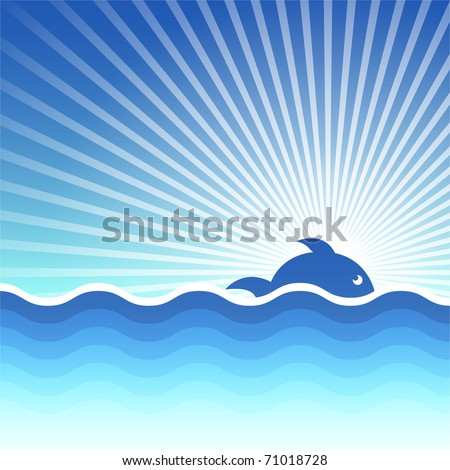 Vector background for design on sea subjects - stock vector